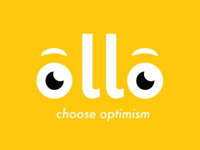 Ollo - Choose Optimism app design optimism research bold color branding and identity logo design
