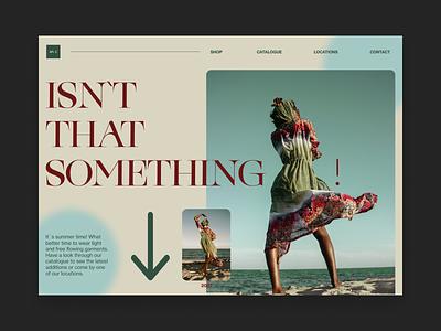 Isn`t That Something! landingpagedesign landingpage type website web ui design