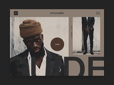 Style Guide landingpagedesign landingpage type website web ui design