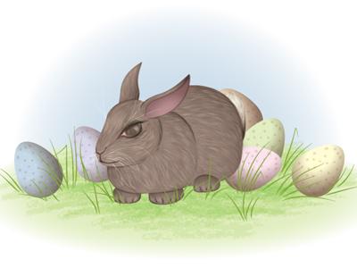 Bunny bunny rabbit vector illustration egg easter illustrator