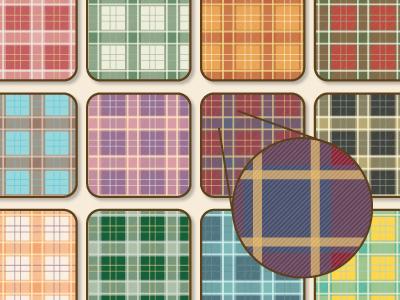 Seamless Plaid Vector Patterns