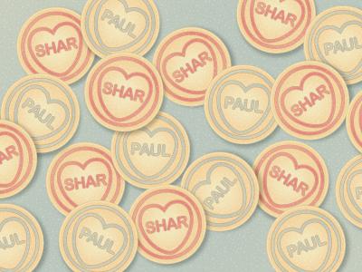 Paul & Shar Love Heart Candies