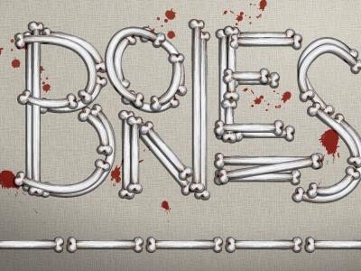Bones Calligram