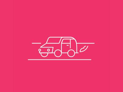 Cruising minimal stroke car icon