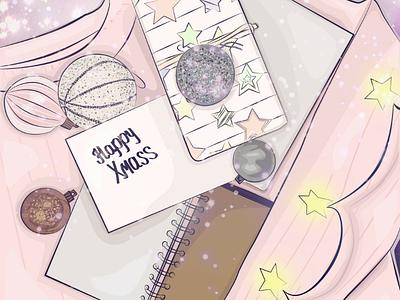 Illustration for Christmas card