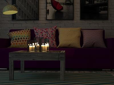 Интерьер гостиной 3dmax design