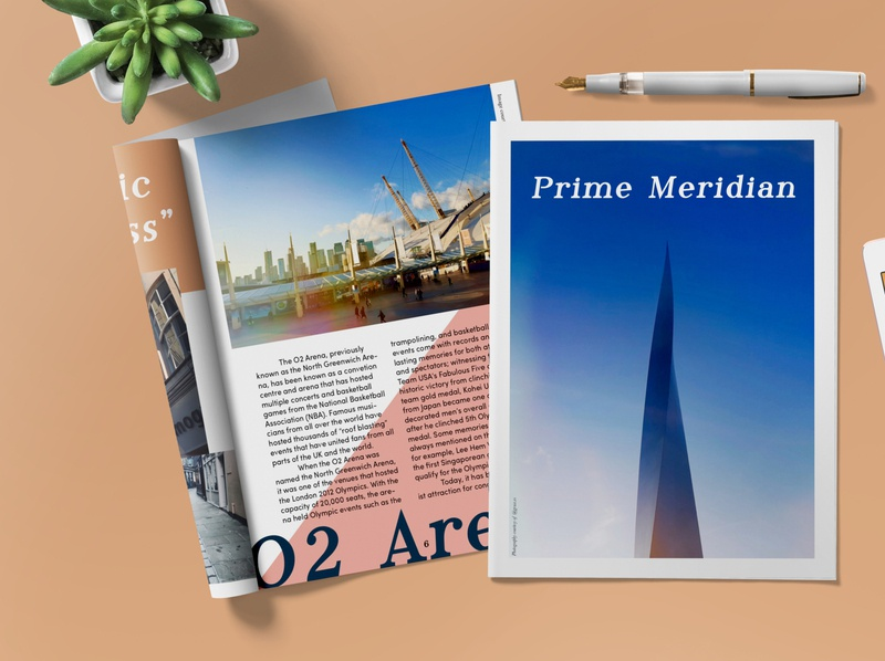 The Prime Meridian tourism london magazine design typography indesign graphic design design