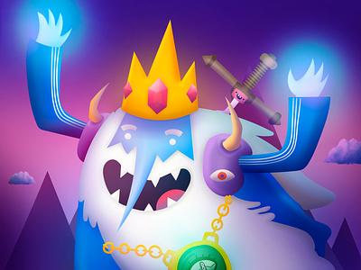 Ice King FanArt ilustracion arte hora de aventura rey helado adobe photoshop adobe illustrator digital illustrator digital paint digitalart cartoonnetwork fanart adventure time