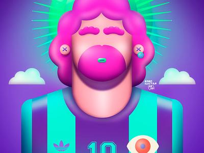 AD10S digital artist digital arts digital painting digitalart soccer futbol fanart 3d maradona d10s