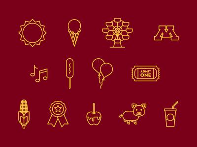 Carlson State Fair Icons