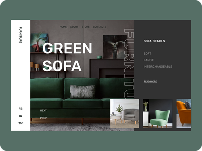 Green Sofa design interior sofa green furniture