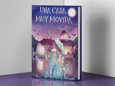 Una casa muy movida cover childrens illustration adventures youth children book illustration