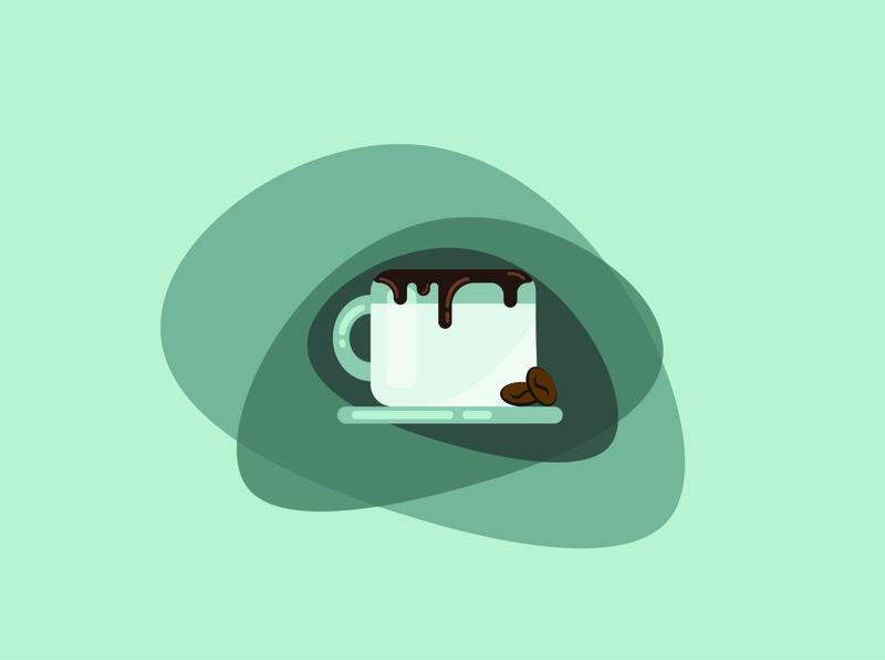 Coffee vector logo illustration design adobe adobe illustrator