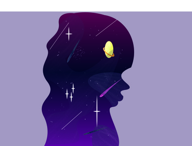 GALAXY GIRL art illustrator flat animation vector logo illustration design adobe illustrator adobe