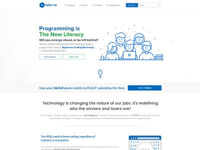 Techcove Landing Page graphicdesign uxdesign webdesign ui website