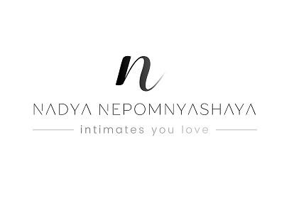 Nadya Nepomnyashaya Lingerie Store identity design sleek design modern creative print media website graphics design logo