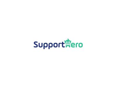 SupportHero Logo Design