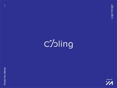 Cycling --Pedal the Metal-- icon illustrator lettering logos logotype graphic design identity design logo design