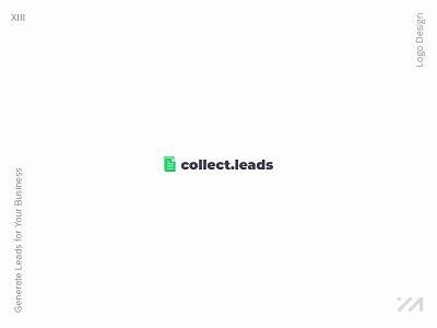 Collect Leads Logo Design icon illustrator lettering logos logotype graphic design identity design logo design