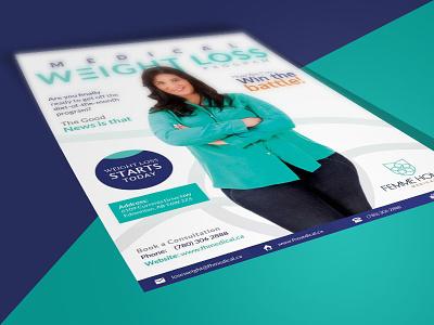 Weight Loss Brochure advertising marketing creative design graphics typography magazine brochure