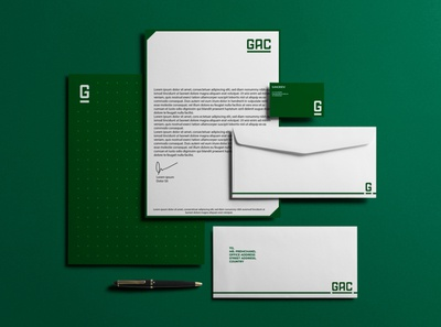 GAC Proposed Identity rejected logo proposed reject dots branding design green brand identity branding logo rejected