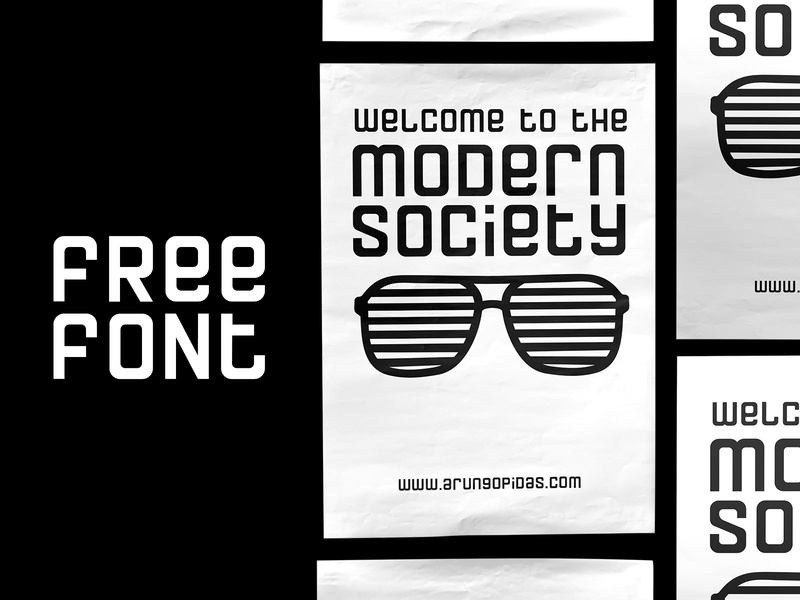 Modern Society - Free Font Download freebie monospaced display typeface society modern informal formal freebies typography font free
