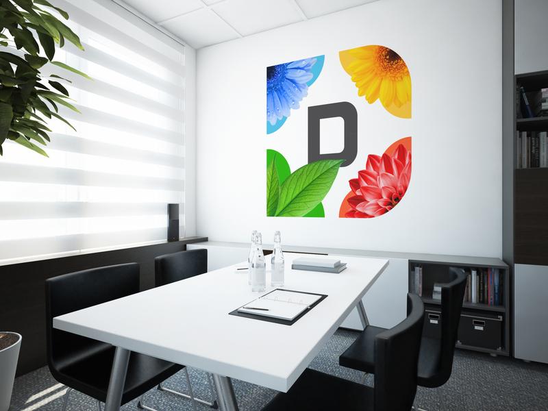 Dynamic Identity System red yellow blue leaf green office interior branding design dynamic flowers brand identity logo branding
