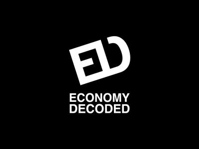 Economy Decoded Logo key open decoded economy logo design negativespace minimal lock logo