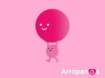 Poster arrópanos poster design poster character cartoon drawing graphicdesign illustration pink charity branding logo design