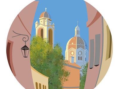 Sunday in Marseille design vector illustration