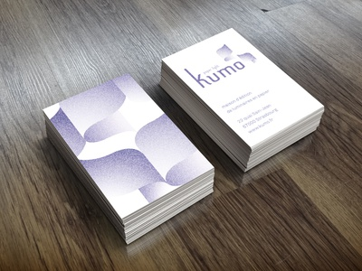 Kumo visual identity typography branding layout print design business card business card design logo graphic design design