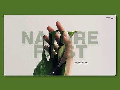 Nature First (Web Design) website minimal web ux ui design