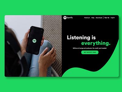 Spotify Website Design illustrator art vector branding website web ux ui design