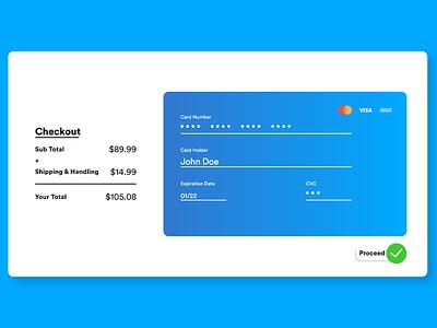Credit Card Checkout Design vector logo illustration app minimal website web ux ui design