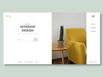 Interior Design branding vector website web minimal ux ui design