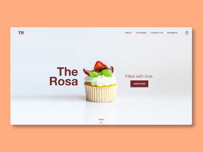 The Rosa (Web Design) branding website web minimal ux ui design