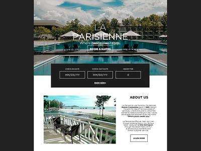 La Parisienne/Web Design web designer website concept designer developer website design web design branding minimal website web ux ui design