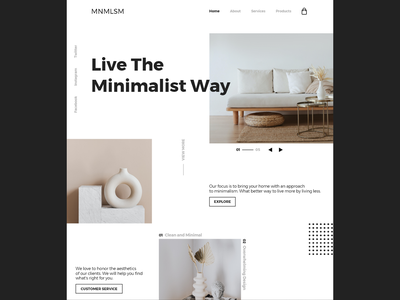 MNMLSM/Web Design websites website design website concept web designer web design developer designer minimal website web ux ui design branding