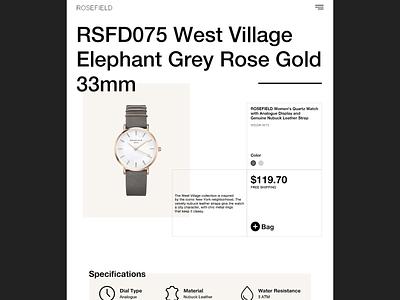 ROSEFIELD/Web Design website design website concept website web designer web design web ux ui minimal developer designer design branding