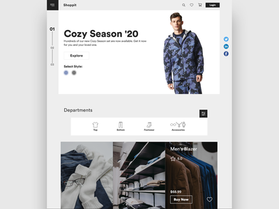 Shoppit/Web Design website design website concept website web designer web design web ux ui minimal developer designer design branding