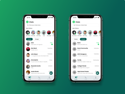 Redesign - Whatsapp Mobile App