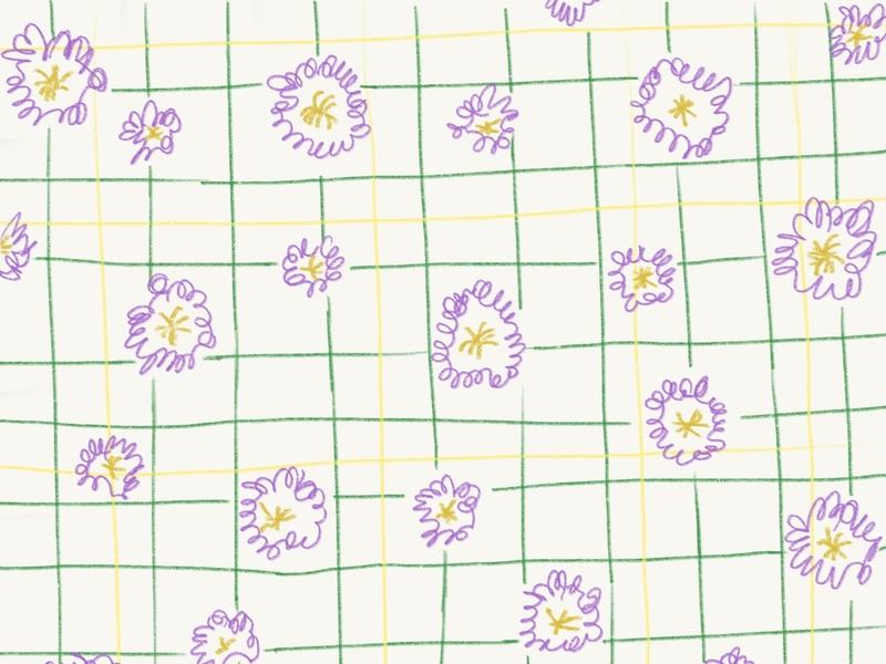 Sunflower fence line art drawing pattern pattern design illustration