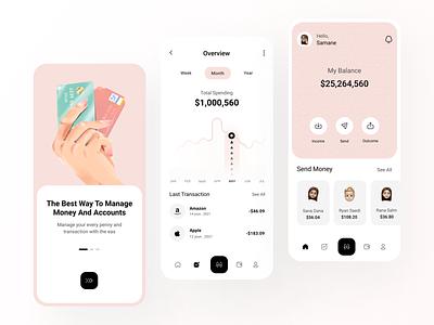 Finance Mobile App 💸 mobile app finance mobile app transaction app pink trend wallet finance app transaction finance mobile ui app