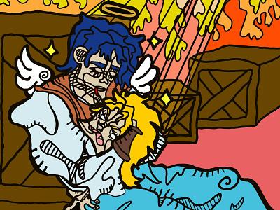 Death Of A Brother drawing digital art illustration design