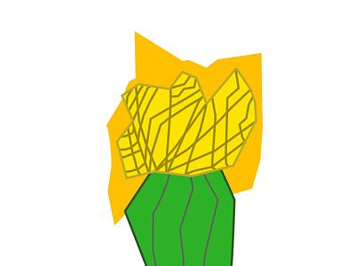 Yellow Grafted Cactus, Fragmented vector illustration vector art cactus flat graphic design nature illustration nature art art vector illustration drawing digital art design
