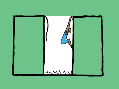 Survival of the fittest 🇳🇬 green white green downsign sam omo illustration art naija country flag nigeria