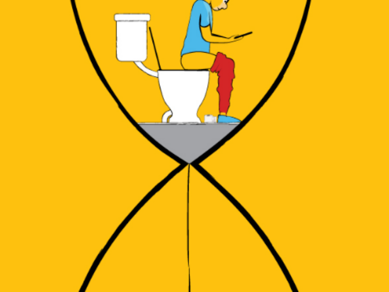 Waste of Time poop shit toilet art illustration sand of time hourglass time waste of time down sign sam omo downsign