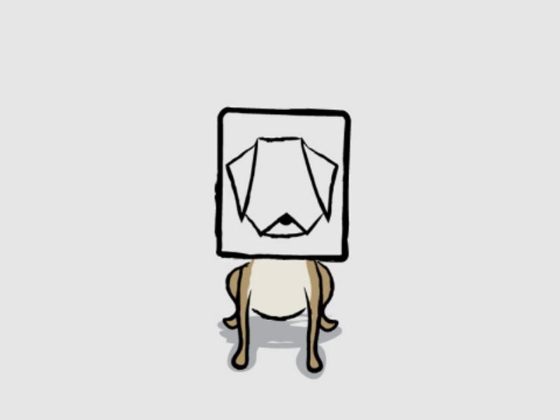 DOG mask downsign sam omo art illustration picture pet animal dog