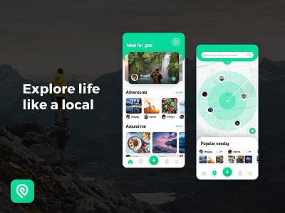 Social travel app ux uiux ui app social