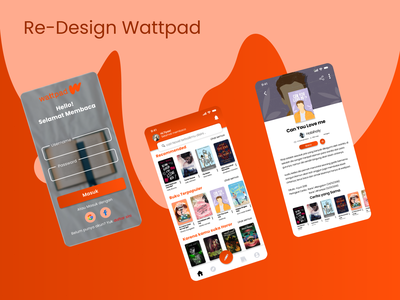 Re-Design Wattpad uiuxdesign ux research ui reading app book design reading